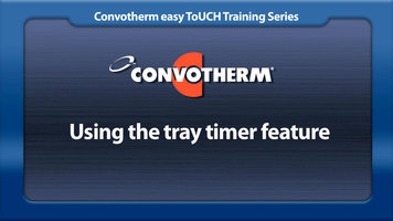 Cleveland Convotherm: Tray Timer