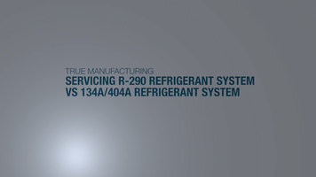 True R290 vs. R-134A Servicing Differences