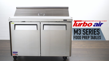 Turbo Air M3 Series Food Prep Tables