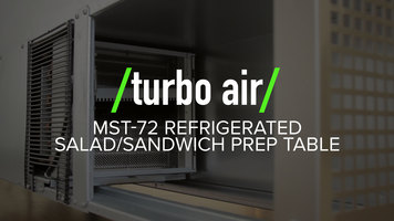 Turbo Air MST-72 Refrigerated Salad/Sandwich Prep Table