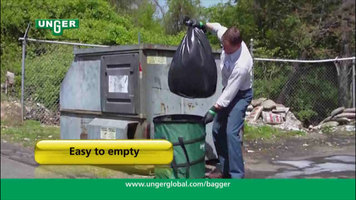 Features of the Unger Nifty Nabber Portable Garbage Can