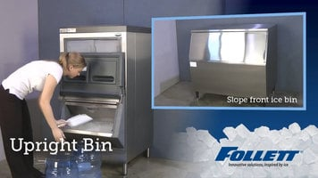 Follett Upright Ice Bins vs. Slope Front Bins