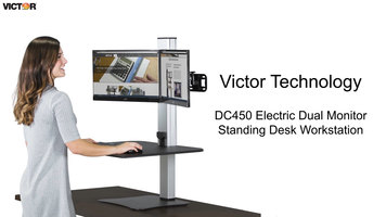Victor DC450 Dual Monitor Standing Desk