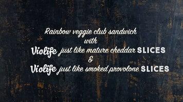 Vegan Rainbow Club Sandwich