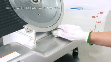Vollrath Electric Slicers: Cleaning