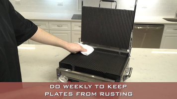 Waring: How to Season and Maintain a Panini Grill
