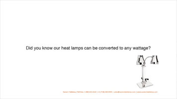 Eastern Tabletop Heat Lamps