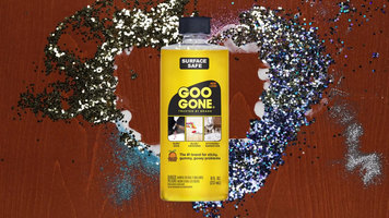 Removing Glue and Glitter with Goo Gone
