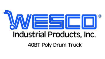 Wesco 40BT Poly Drum Truck