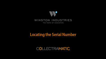 Winston Collectramatic: Locating the Serial Number