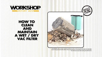 Workshop Vac: How to Clean the Filter
