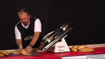DoughXpress: DXSM-270C French Bread/Bun and Bagel Slicer - Compact Footprint