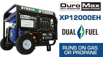 DuroMax XP12000EH 12000-Watt 18 HP Portable Dual Fuel Gas Propane Generator