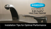 Bobrick B-824 SureFlo Installation