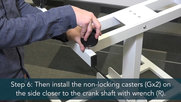 Luxor Assembly Guide: Single Column Crank Stand Up Desk
