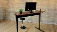 Luxor Pneumatic Adjustable Height Standing Desk - Black