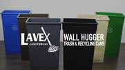 Lavex Janitorial Wall Hugger Trash & Recycling Cans