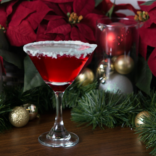 salted Santa Hat martini