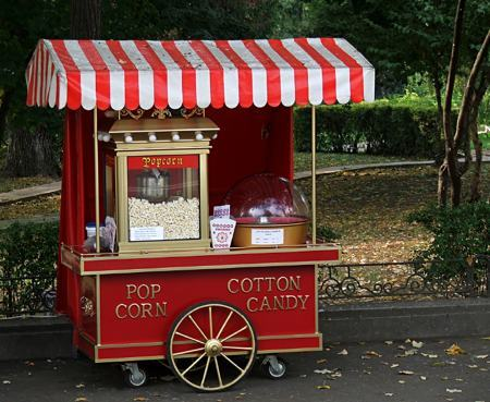 mobile popcorn concession stand