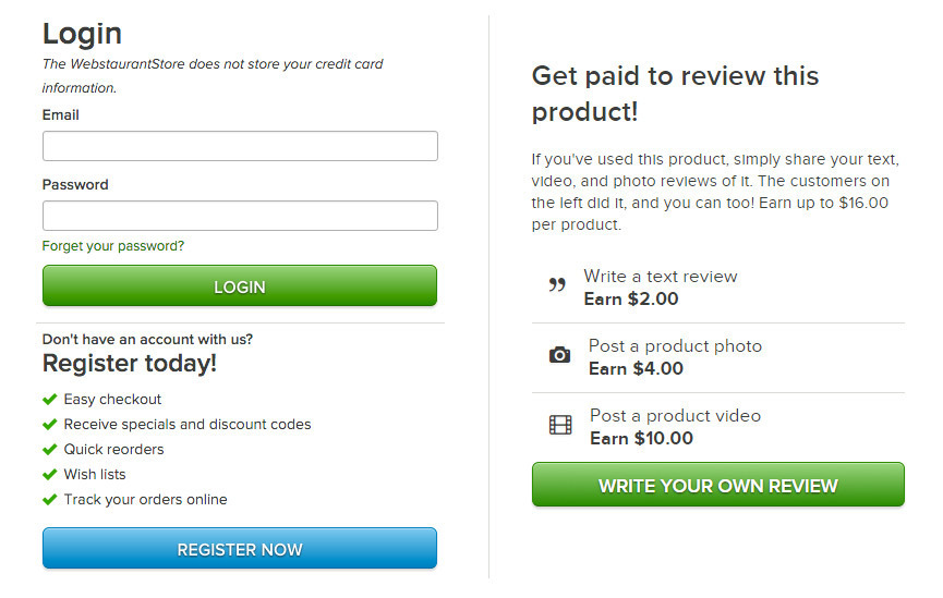Get Paid for Your Product Reviews at WebstaurantStore