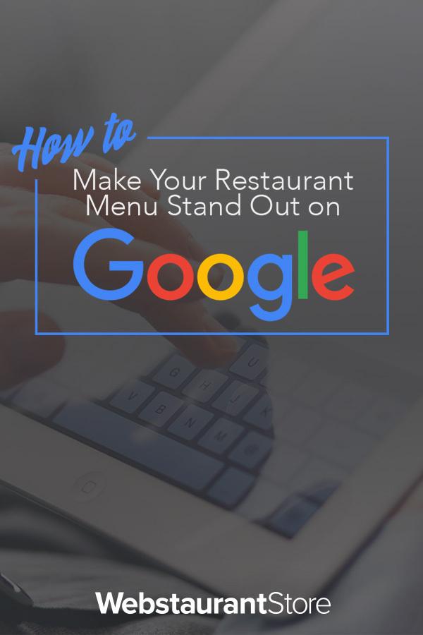 Make Your Restaurant Menu Stand Out On Google Restaurant