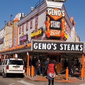 Geno's Steaks sign