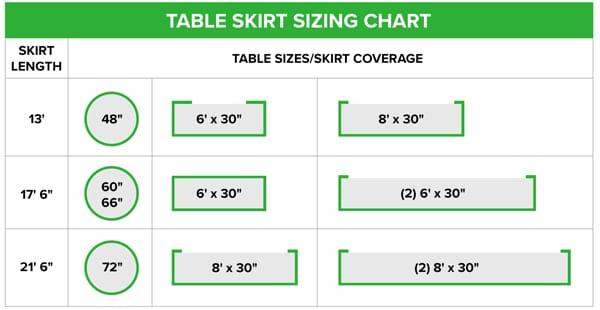 Types of Table Skirting | Table Skirting Styles | WebstaurantStore