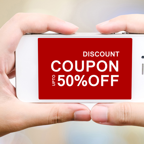 coupon discount on smart phone