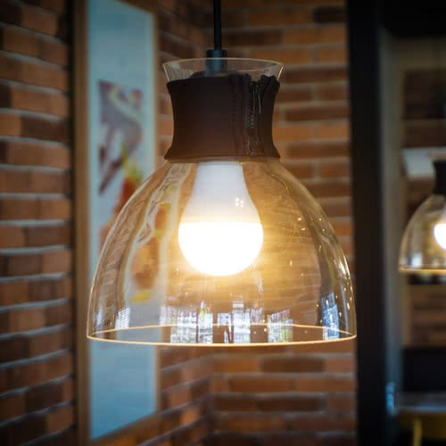 Bright Led Lamp In A Restaurant