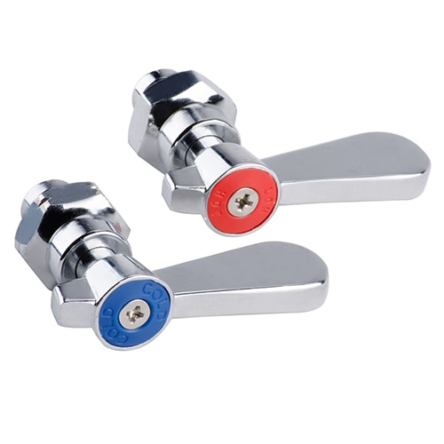 Hot faucet handle and cold faucet handle