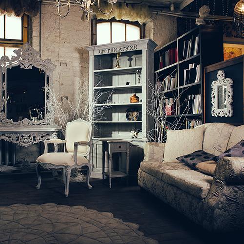 Vintage coffee shop interior