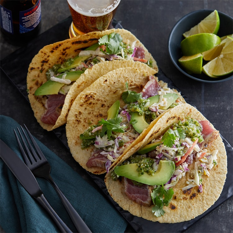tuna tacos and slaw