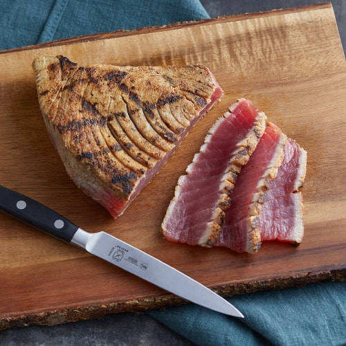 sliced grilled tuna