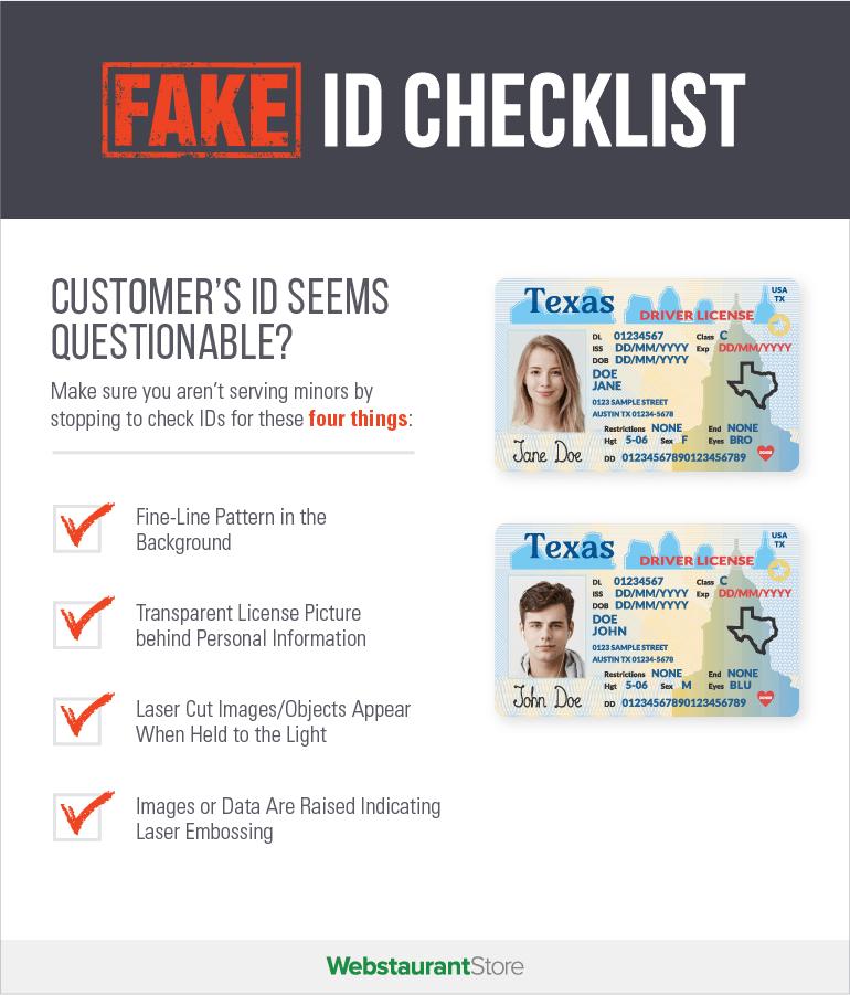 Fake ID Checklist infographic