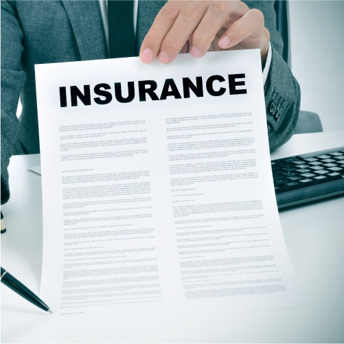 Person holding insurance paperwork