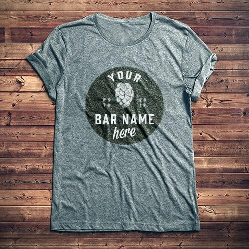 Camiseta con logo de barra personalizada