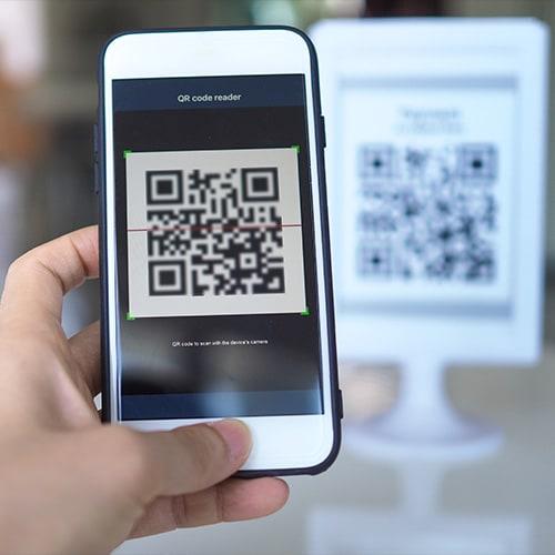 Escanear un código QR con un teléfono inteligente
