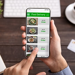 Mobile Food Delivery Menu