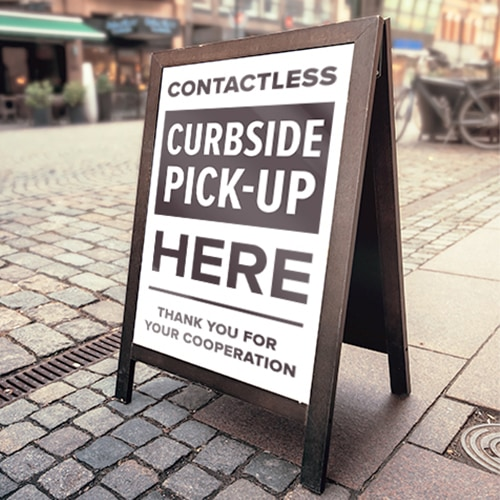 Contactless Pickup Street Sign