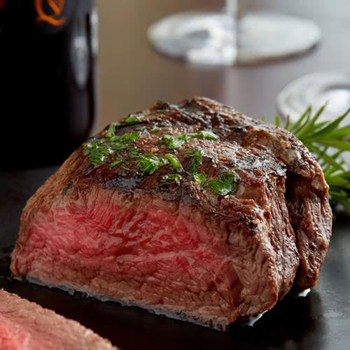 medium rare cooked steak
