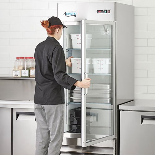 chef opens avantco refrigeration stainless steel refrigerator