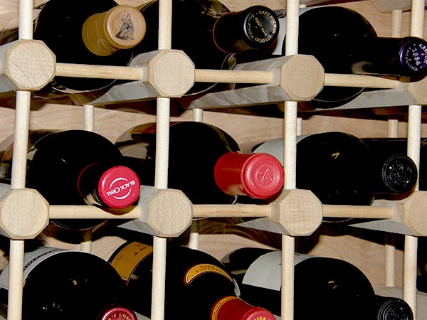 bastidores de vino