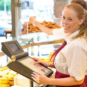 Young Cashier Employee