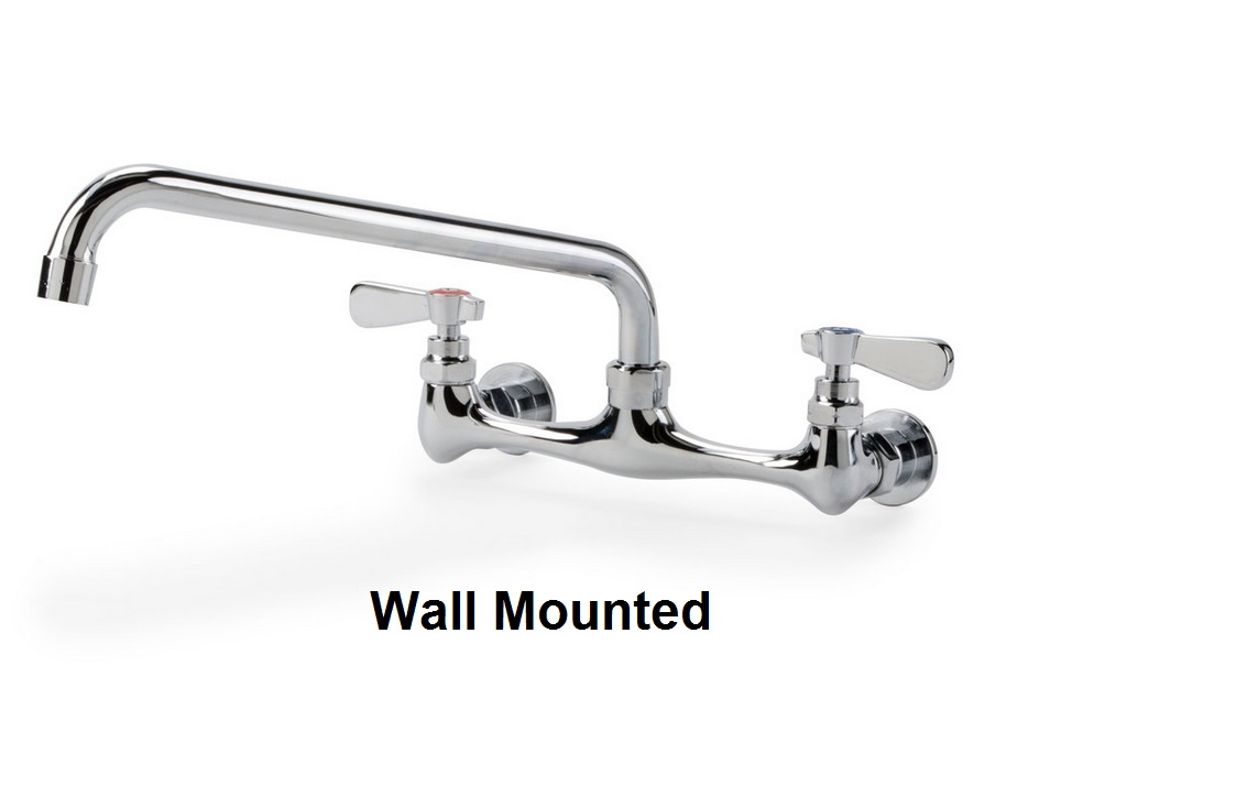 lead faucet centers wall krowne center low series faucets spout with swing mount commercial
