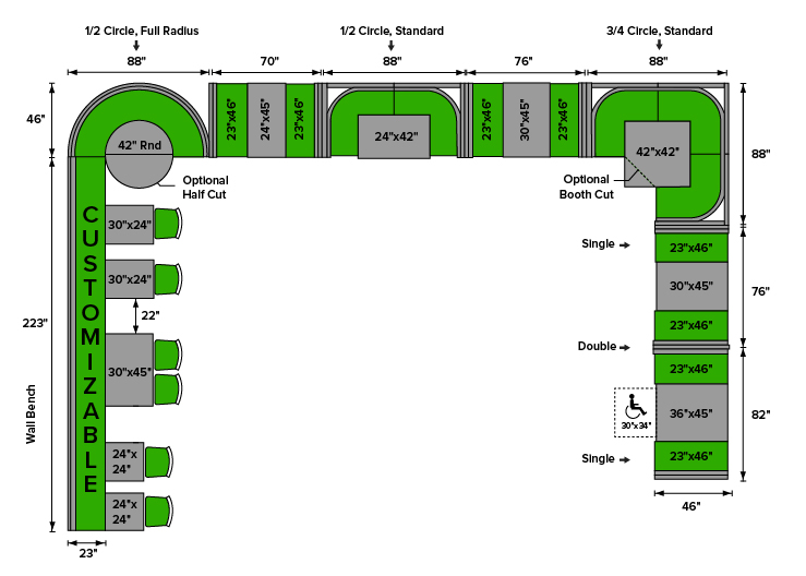 Restaurant Booth Seating Dimensions Amp Layout Examples
