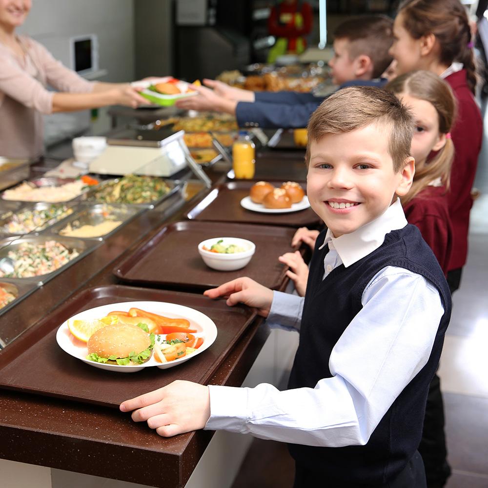 comida escolar segura para alérgenos