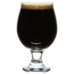 American Stout in a Belgian beer glass
