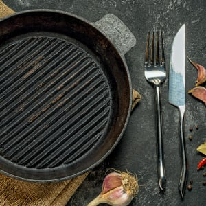 methods for cleaning a cast iron grill pan. Black Bedroom Furniture Sets. Home Design Ideas