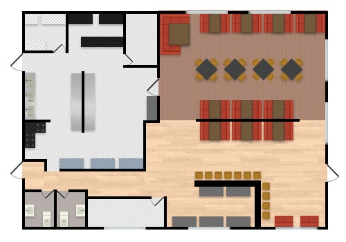 Restaurant Seating Layout | Dining Room