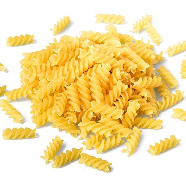 Close of dry fusilli pasta